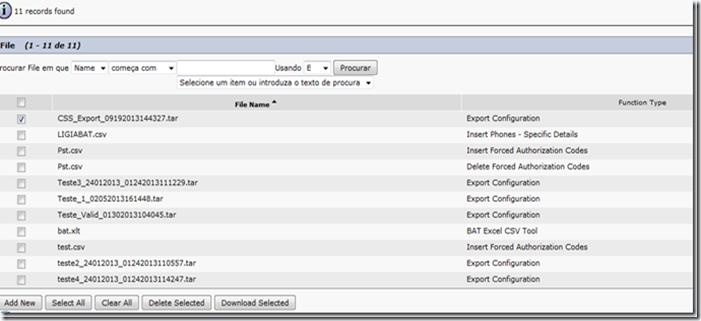 Configurações CUCM via BAT ( csv) « Architecture for Voice